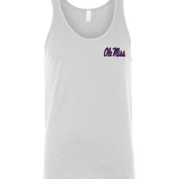 Official NCAA University of Mississippi Rebels Ole Miss Hotty Toddy U of M Unisex Tank - 35OLM10