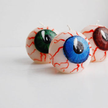 Halloween Decor Eye Ball Candle - Creepy Decor - Funny Eyes Staring At You!