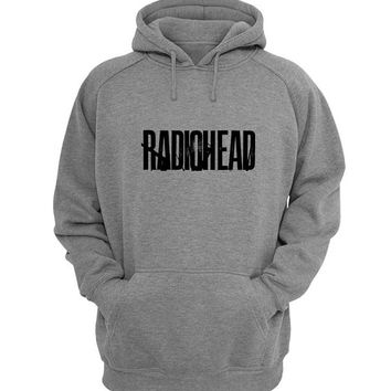 radio head Hoodie Sweatshirt Sweater Shirt Gray for Unisex size with variant colour