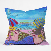 Renie Britenbucher Beached Mermaids Outdoor Throw Pillow