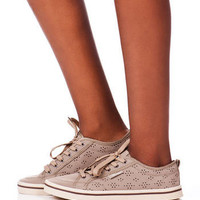 Slope Lace Up Sneaker in Taupe