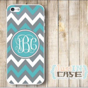 Chevron Nautical Monogram Personalized iPhone 4/4s/5/5c/5s Case,Chevron Samsung Galaxy s3/s4/note3 Cell Phone Cover,Custom Monogrammed Case