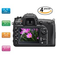 (4pcs, 2pack) LCD Screen Protector Protective Film for Canon EOS 70D / EOS 7D / EOS 80D Digital SLR Camera