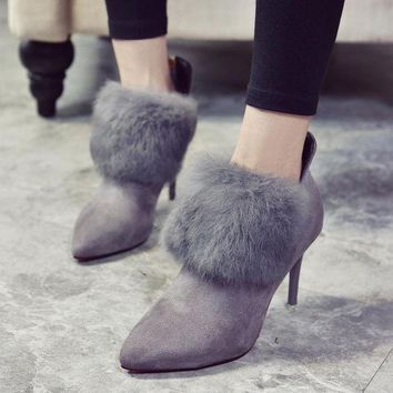 ac DCK83Q On Sale Hot Deal Winter Pointed Toe High Heel Dr. Martens Shoes Boots [79792537625]