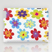 Valentine's Day Gift HIGH QUALITY iPad Mini and iPad (2nd, 3rd, 4th Gen) CASE and Decal - Happy Colorful Floral Tablet Cases and Skins