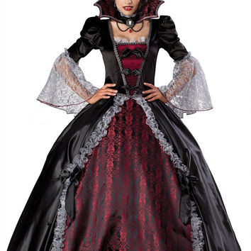 InCharacterCostumes Women's Vampiress Of Versailles Costume Black/burgundy