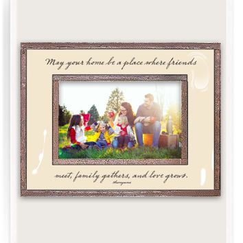 May Your Home Be A Place Copper & Glass Photo Frame