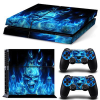 Vinyl Decal Protective Skin Cover Sticker for Sony PS4 Console And 2 Dualshock Controllers #11