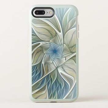 Floral Dream Pattern Abstract Blue Khaki Fractal OtterBox Symmetry iPhone 8 Plus/7 Plus Case
