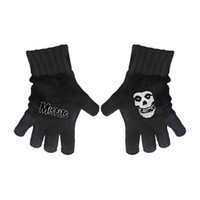 Misfits Knit Gloves Black