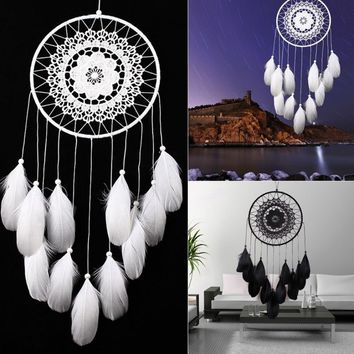 Popular Crafts Dreamcatcher Wind Chimes Handmade Dream Catcher with Feathers Wall Hanging Gifts