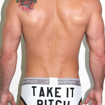 Take it Bitch Brief-White