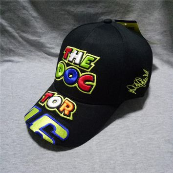 Black Yellow Rossi 46 Embroidered Baseball Cap 5 Panel VR46 Motorcycle Racing Cap Men Women Baseball Hat Bone Gorras Snapback