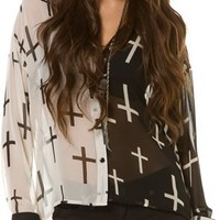 SPARE DOUBLE CROSSED LS TOP | Swell.com