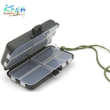 Waterproof 9 Compartments Eco-Friendly Plastic Fishing Tackle Box Portable Fishing Lure Hook Rig Bait Storage Case Pesca Tackle