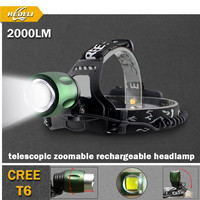 CREE XML T6 hunting edc Headlamp portable Zoomable detachable Head Lamp LED Torch
