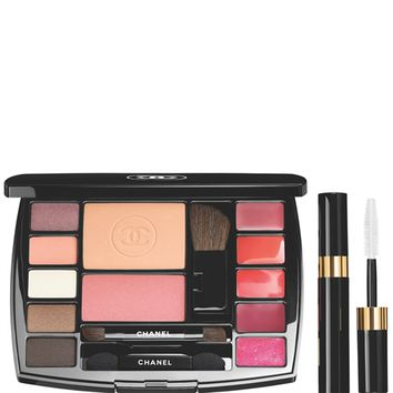TRAVEL MAKEUP PALETTE MAKEUP ESSENTIALS WITH TRAVEL MASCARA (DESTINATION Shade) - TRAVEL MAKEUP PALETTE - Chanel Makeup
