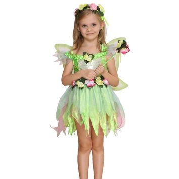 Halloween Children 's Costumes Cosplay Dress Up Role - Playing Maternity Girls Fairy Butterfly Flower Fairy