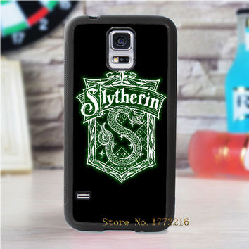House Slytherin Harry Potter Create fashion cover case for samsung galaxy s3 s4 s5 s6 s7 s6 edge s7 edge note 3 note 4 note 5