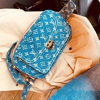 Louis Vuitton LV New Fashion High Quality Monogram Cowboy Women Men Shoulder Bag blue