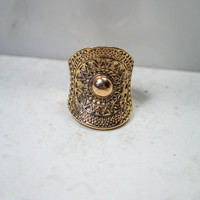 Aztec Sunset Ring in Gold