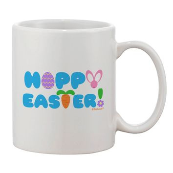 Cute Decorative Hoppy Easter Design Printed 11oz Coffee Mug by TooLoud