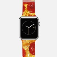 Pepperoni Pizza Print Apple Watch Band case by Rex Lambo | Casetify