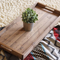 Rustic Wooden Ottoman Tray, Coffee Table Tray, Serving Tray, Wooden Tray, Rustic Home Decor, Wedding Gift, Housewarming Gift, Christmas Gift