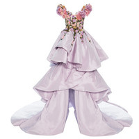 Floral Embroidered Tiered Ball Gown | Moda Operandi