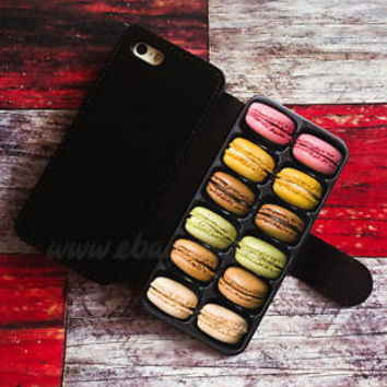 French Macarons Box Wallet iPhone cases Samsung Wallet Leather Phone Cases