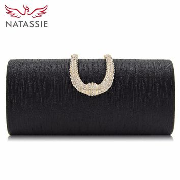 NATASSIE Women Evening Bags Wedding Clutch Female Clutches Girls Ladies Party Bag Wedding Purse With Chain
