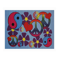 Fun Rugs Fun Time Collection Home Kids Room Decorative Floor Area Rug Lovely Peace -19X29
