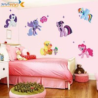 my little pony 3d cartoon wall stickers for kids rooms zooyoo1425 home decoration diy wall decal for girls room wall decorations