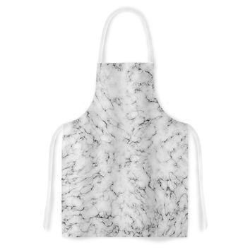 "Will Wild ""Marble"" White Gray Artistic Apron"