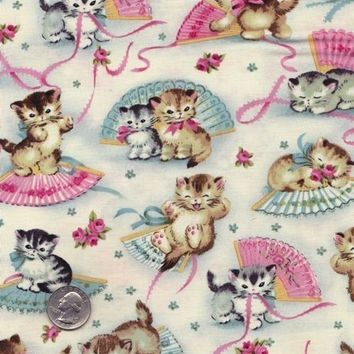 Fat quarter - Smitten Kittens - Michael Miller cotton quilt fabric