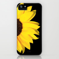 colored summer ~ sunflower black iPhone & iPod Case by Steffi ~ findsFUNDSTUECKE