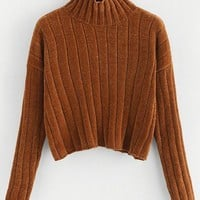 Coffee Run Thick Knit Turtle Neck Sweater