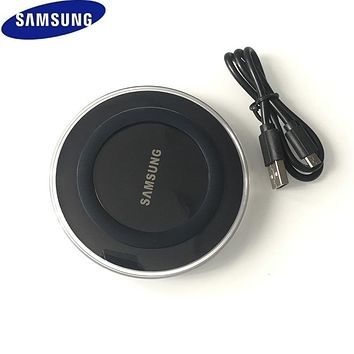 Original Samsung QI Wireless Charger Adapter 5V/2A Charger Pad For Galaxy S7 S6 EDGE S8 S9 S10 Plus Note 4 5 Iphone 8 X XS XR