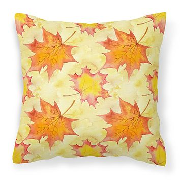 Fall Leaves Scattered Fabric Decorative Pillow BB7496PW1414