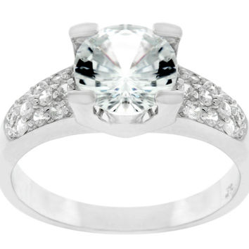 Greta Art Deco Round Cut Engagement Ring | 2ct | Cubic Zirconia