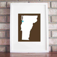 Customize Your Home Is Where The Heart Is Vermont by LilyGene