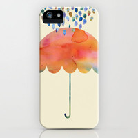 Rainbow Umbrella iPhone Case by Kanika Mathur | Society6
