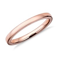 Low Dome Comfort Fit Wedding Ring in 14k Rose Gold (2mm) | Blue Nile