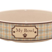 "One Kings Lane - Treat Your Dog - S/2 ""In the Country"" Small Bowls, Blue"