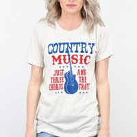 Country Music: Three Cords & the Truth S/L Tee {Oat}