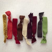 Autumn 2013 Collection Set of 9 Glitter Softies hair ties by Opus 19