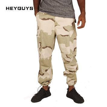 HEYGUYS New camo pants  Men Full Length Men HIPHOP 2017 joggers Pants Plus Size Trousers  Sweatpants  men women street