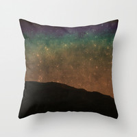 Art Throw Pillow Cover Star Light at the Beach Photo Indoor Outdoor photography photograph stars shining black night dark blue green rust