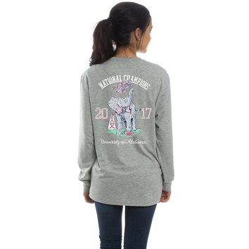 2017 National Champs Long Sleeve Tee in Heather Grey by Lauren James