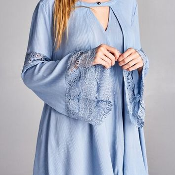 Bell Sleeve Tunic Top